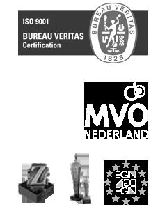 Certificaten ISO - FSC - MVO en Gouden-Z - Business en EGIN Awards van Graphiset